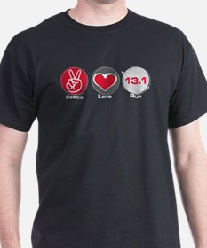 Peace Love Run 13.1 T-Shirt