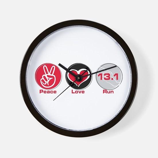 Peace Love Run 13.1 Wall Clock