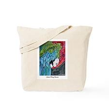 Beautiful, Green-Winged, Macaw, Tote Bag
