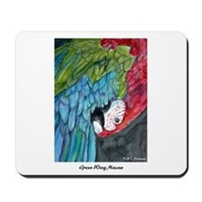Beautiful, Green-Winged, Macaw, Mousepad