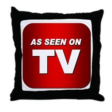 Cute As seen on reality tv red solopress television Throw Pillow