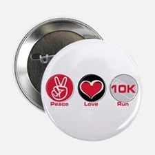 "Peace Love Run 10K 2.25"" Button"