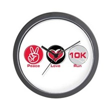 Peace Love Run 10K Wall Clock