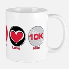 Peace Love Run 10K Mug