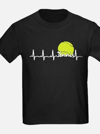 Tennis Heartbeat T Shirt T-Shirt