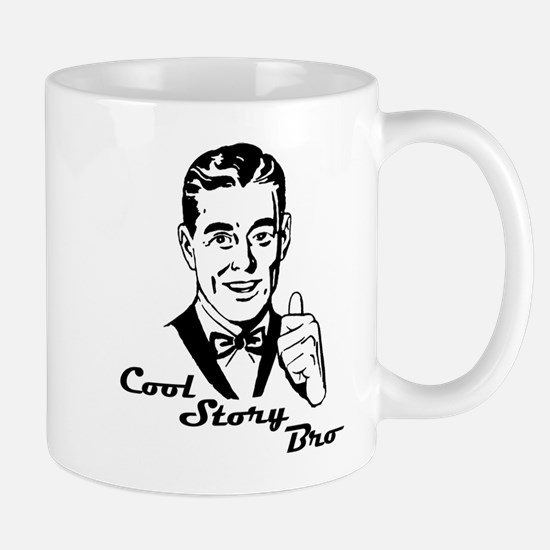 Cool Retro Story Bro Mug