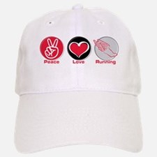 Peace Love Running Baseball Baseball Cap