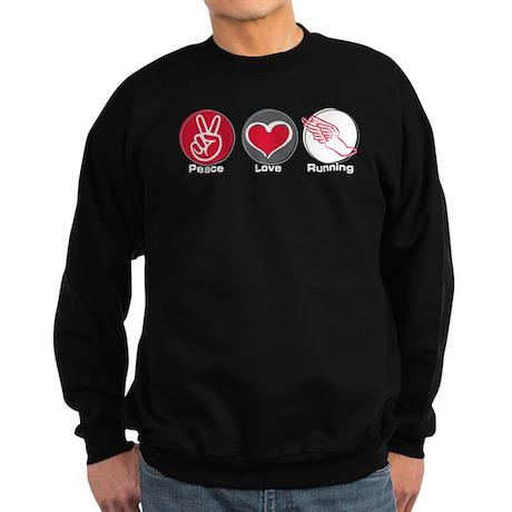 Peace Love Running Sweatshirt (dark)