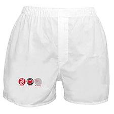 Peace Love Running Boxer Shorts