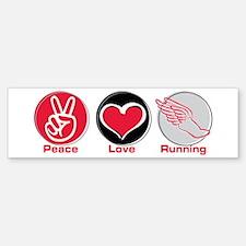 Peace Love Running Bumper Sticker (10 pk)