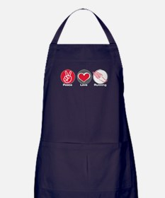Peace Love Running Apron (dark)