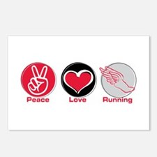 Peace Love Running Postcards (Package of 8)