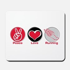 Peace Love Running Mousepad
