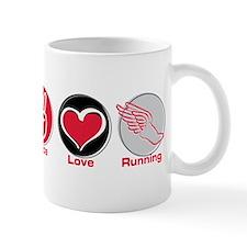 Peace Love Running Mug