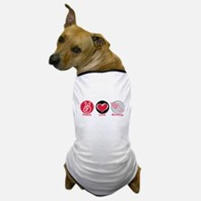 Peace Love Running Dog T-Shirt