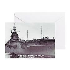 USS FRANKLIN Greeting Card