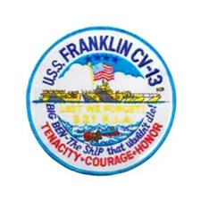 "USS FRANKLIN 3.5"" Button (100 pack)"