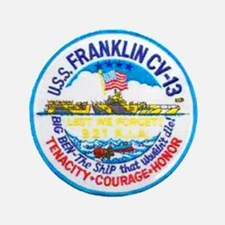 "USS FRANKLIN 3.5"" Button (100 pack)"