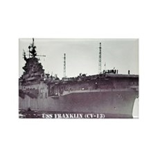 USS FRANKLIN Rectangle Magnet (100 pack)