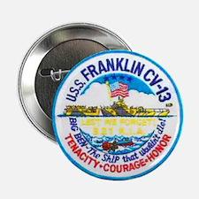"USS FRANKLIN 2.25"" Button"