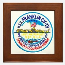USS FRANKLIN Framed Tile
