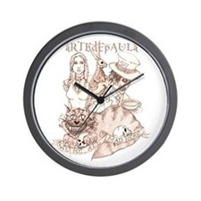 Alice We're All Mad Here Wall Clock