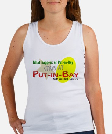 What happens at Put-in-Bay - Women's Tank Top