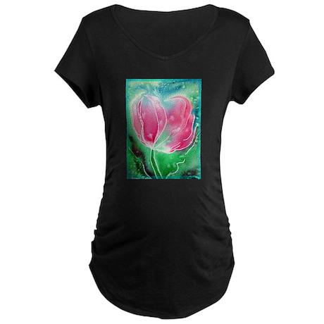 Tulip, Colorful, Maternity Dark T-Shirt