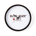 Blood Never Lies Wall Clock