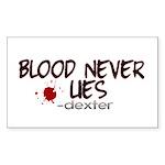 Blood Never Lies Rectangle Sticker
