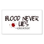 Blood Never Lies Rectangle Sticker 50 pk)