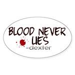 Blood Never Lies Oval Sticker