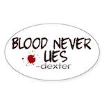 Blood Never Lies Oval Sticker (10 pk)