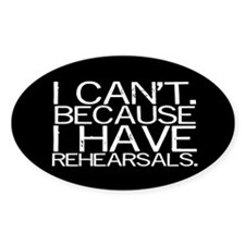 """""""I can't. Because..."""" (black) Decal"""
