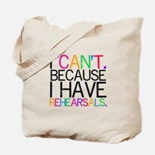 """I can't. Because..."" (multi) Tote Bag"