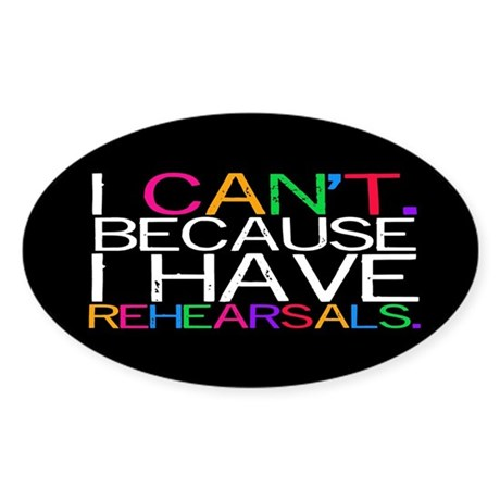 """""""I can't. Because..."""" (multi) Sticker (O"""