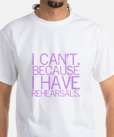 """""""I can't. Because..."""" (lavender) Shirt"""