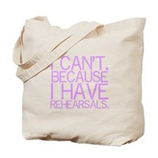 """I can't. Because..."" Tote Bag"