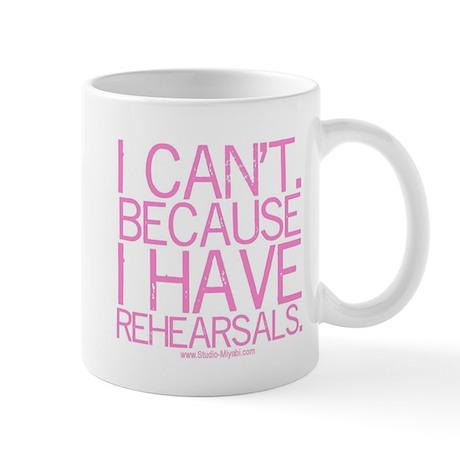 """""""I can't ..."""" (pink) Mug"""