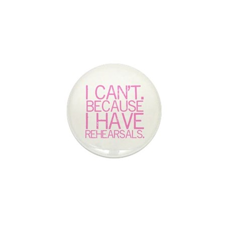"""I can't. Because..."" (pink) Mini Button"