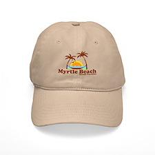 Myrtle Beach SC - Beach Design Baseball Cap