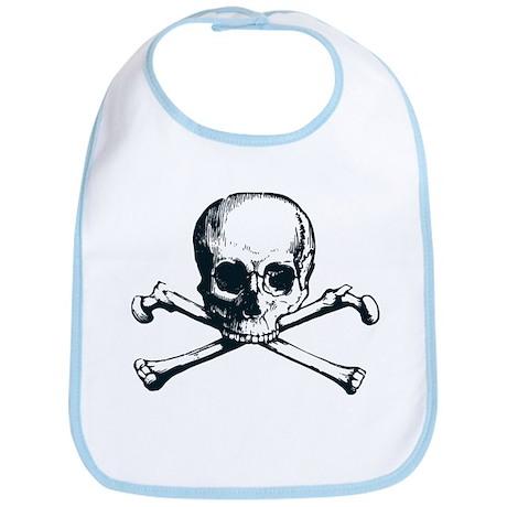 Pirate Skull Cross & Bones Bib