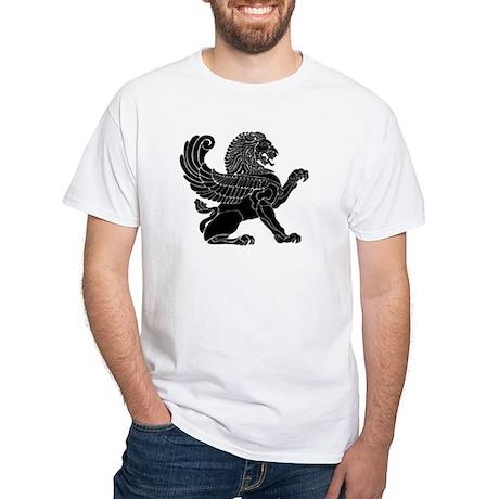 Persian Lion White T-Shirt