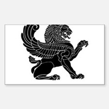 Persian Lion Rectangle Decal