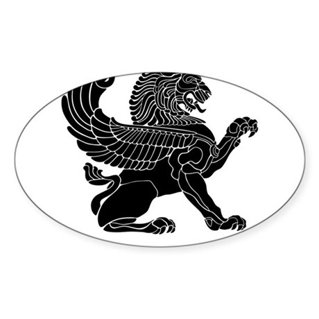 Persian Lion Oval Sticker (50 pk)
