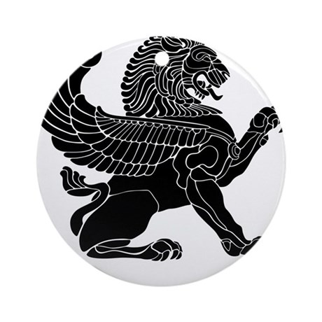 Persian Lion Ornament (Round)