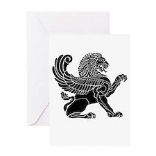 Persian Lion Greeting Card