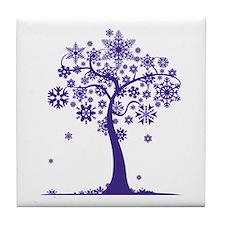 Winter Tree Tile Coaster