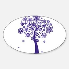 Winter Tree Oval Decal