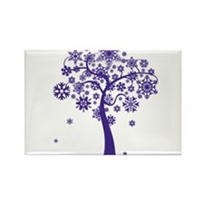 Winter Tree Rectangle Magnet (100 pack)